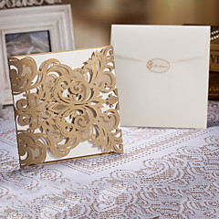 Wedding Invitation Laser Cut Tri-fold(Set of 50)
