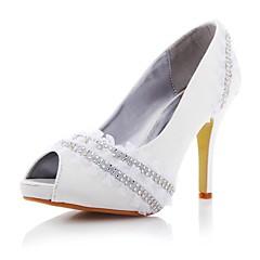 Women's Wedding Shoes Heels/Peep Toe/Platform Heels Wedding/Party & Evening White