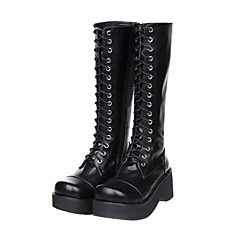 Lolita Shoes Classic/Traditional Lolita Lolita Platform Shoes Solid 7 CM For PU Leather/Polyurethane Leather
