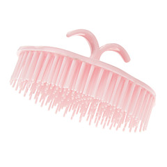 Pink Zaoblený Shampoo Comb