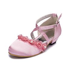 Girl's Flats Spring / Summer / Fall / Winter Comfort Satin Wedding / Party & Evening Flat Heel Ruffles Black / Pink / White