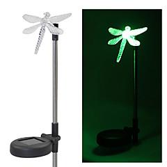 Sæt med 2 Garden farveskiftende Dragonfly Solar Stav Lights