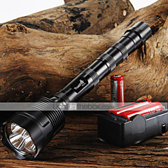 TrustFire 3T6 3800 lumens flashlight 3 x CREE XM-L 5-Mode 3 * Cree LED Flashlight + 3*18650 Butteries + Charger