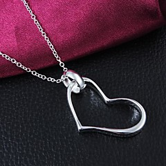 Fashion Brass Silver Plated  Women's Necklace