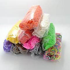 bandes de caoutchouc silicone Bandz de twistz bricolage bracelets arc-en-couleur style de métier pour les enfants avec 600pcs bandes et 24 s-clips