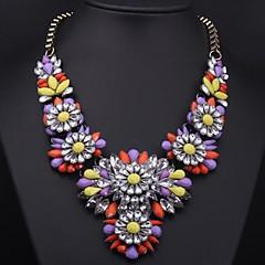Women's Color Crystal Gemstone Necklace