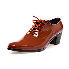 Men's Shoes Wedding/Party & Evening Leather Oxfords Black/Brown/White