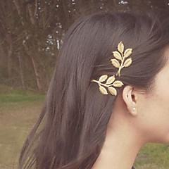Lucky Doll  Olive Leaf Shape Hair Clip