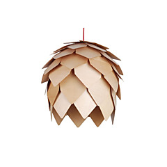 Design Style  Pinecone Feature L 220V LED Warm Wooden Pendant Light