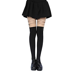 Socks/Stockings Classic/Traditional Lolita Lolita Lolita Black Lolita Accessories Stockings Print For Women Polyester