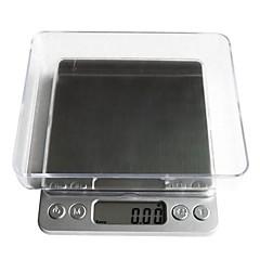 digital lcd elektronisk køkken vægt mad skala balance1000g / 0,1 g, plast 12.7x10.6x1.9cm