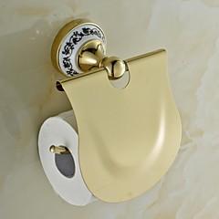 kerámia réz arany ti-PVD WC-papír tartó