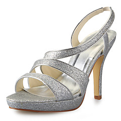 Women's Wedding Shoes Platform/Slingback Sandals Party & Evening Black/White/Silver/Champagne/Beige
