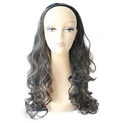 Half Wig Long High Quality Big Wave Female Elegant Fashion Synthetic Celebrity Wig