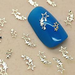 200pcs stralende sterren gouden metalen schijfje nail art decoratie