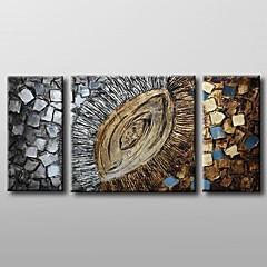 peint à la main peinture à l'huile abstraite moderne avec étiré ensemble de 3 châssis