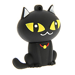 zp55 32 기가 바이트 만화 검은 고양이의 USB 2.0 플래시 드라이브