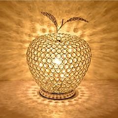 mode æble form krystal bordlampe k9 krystal skrivebord lamper bedside stue kontor mini bordlamper