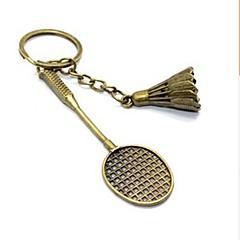 vintage badminton bronze legering nøglering (1 stk)