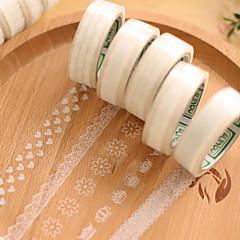 átlátszó csipke dekoratív scrapbooking ragasztók szalag (10m véletlenszerű minta 1 db)