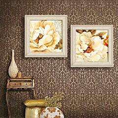 Blumenmuster/Botanisch Gerahmtes Leinenbild / Gerahmtes Set Wall Art,PVC Beige Kein Passpartout Mit Feld Wall Art