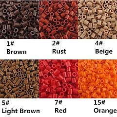 ca. 500 stuks / zak 5mm perler kralen smelten kralen hama kralen eva materiaal safty voor kinderen (assorti b1-b15)