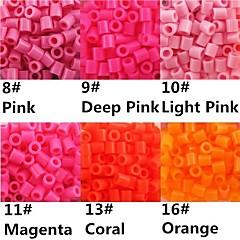 ca. 500 stuks / zak 5mm perler kralen smelten kralen hama kralen eva materiaal safty voor kinderen (assorti b8-b16)