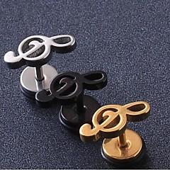 Beszúrós fülbevalók Személyre szabott jelmez ékszerek Titanium Acél Ékszerek Kompatibilitás Esküvő Parti Napi Hétköznapi Karácsonyi