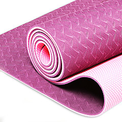 Tpe Yoga Mat Fitness Mat Non-Slip Yoga Mat Widened Thickened Three Piece Set