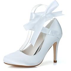 Women's Wedding Shoes Heels/Round Toe Heels Wedding/Party & Evening Black/Blue/Pink/Ivory/White