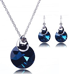 Jewelry Set Women's Party Jewelry Sets Alloy Crystal Necklaces / Earrings Silver
