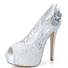 Women's Wedding Shoes Heels/Peep Toe/Platform Heels Wedding/Party & Evening Black/Pink/Ivory/White
