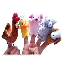 Fingerpuppe Hühnchen Ente Hunde Schwein Zeichentrick lieblich Neuheiten - Spielsachen Für Jungen Für Mädchen Gewebe