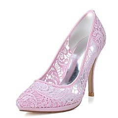 Women's Wedding Shoes Heels/Pointed Toe Heels Wedding/Party & Evening Black/Pink/Ivory/White