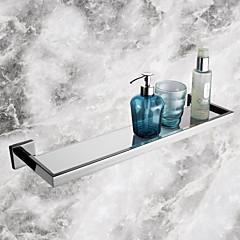 Badkamerplank Roestvast staal Muurbevestiging 56.7*14.25*5.5cm(22.32*5.61*2.17inch) Roestvast staal / Glas Modern