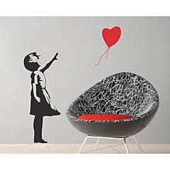 jiubai® Banksy ballon gitl muursticker muurtattoo