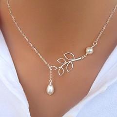 Жен. Ожерелья с подвесками Жемчужные ожерелья В форме листа Жемчуг Искусственный жемчуг Сплав Базовый дизайн Мода Простой стиль бижутерия