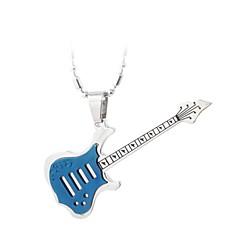 rustfritt stål gitar halsbånd (fire farger)