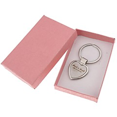 Personalized Tungsten Steel Heart-shapedKey Chain---Set of 6