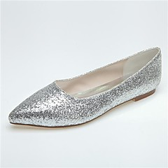 Women's Wedding Shoes Pointed Toe Flats Wedding/Casual/Party & Evening Black/Silver/Gray