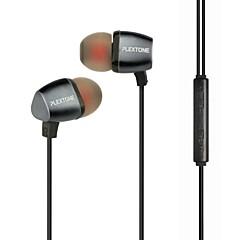 iphone / ipadと/ PC用のマイクとcompatibeとplextone®で、耳金属重低音イヤホン