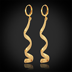 U7®New Women's Long Drop Dangle Earrings 18K Real Chunky Gold Plated Jewelry Gift for Women