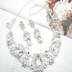 Jewelry Set Women's Wedding Jewelry Sets Alloy Diamond Necklaces / Earrings Silver