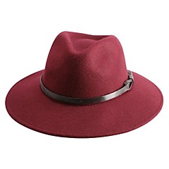elegantní vlna dámy strana / outdoor / ležérní klobouk s hnědým pásem (více barev)