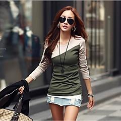 yuwinne női pamut elütő színű póló