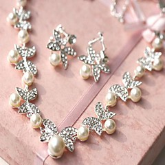 Jewelry Set Women's Wedding Jewelry Sets Imitation Pearl / Alloy Rhinestone Necklaces / Earrings Ivory