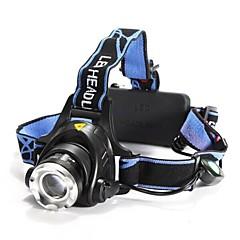 Hovedlygter LED 3 Modus 1200 Lumens Justerbart Fokus / Vandtæt / Oppladbar / Nedslags Resistent Cree XM-L T6 18650Camping/Vandring/Grotte