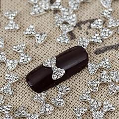 10pcs de bling brilhante cristal arco strass nail art bowknot jóia da liga manicure brilhante jóias