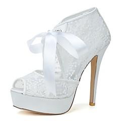 Women's Wedding Shoes Heels/Peep Toe Heels Wedding/Party & Evening Black/Pink/Red/Ivory/White