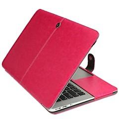 couleur unie récent étui en cuir pliable pour macbook air 13,3 pouces